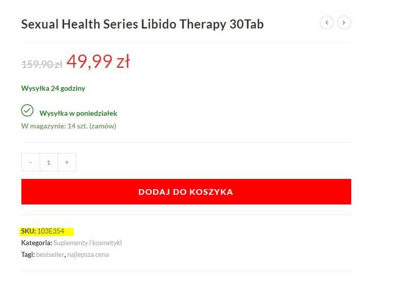 sklep erotyczny eroprezent.pl gdzie jest SKU / INDEKS
