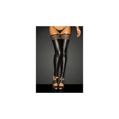 F135 Powerwetlook stockings with siliconed lace XL 139E155 5
