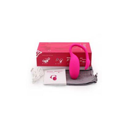 Jajeczko sterowane aplikacja Magic Motion Flamingo Vibrating Bullet 123E591 8