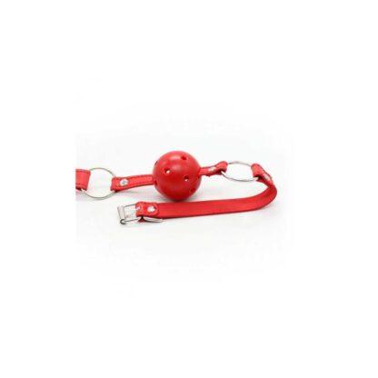 Knebel Breathable Ball Gag rosso 119E766 4