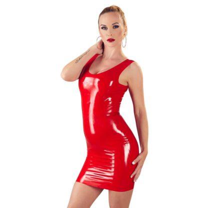 Lateksowa mini sukienka czerwona S 183E868 2