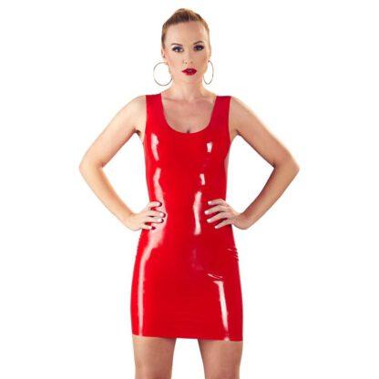 Lateksowa mini sukienka czerwona S 183E868 3