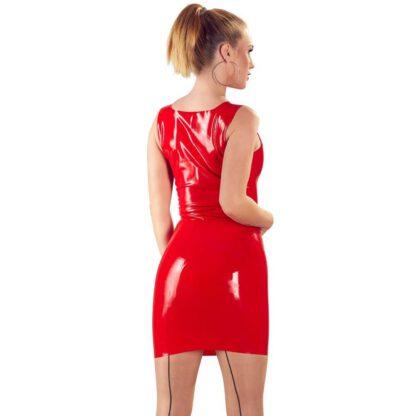 Lateksowa mini sukienka czerwona S 183E868 4