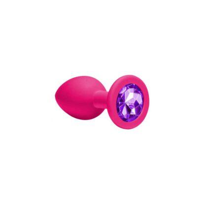 Plug Anal Plug Emotions Cutie Medium Pink dark purple crystal 138E139 3