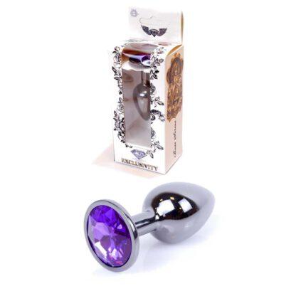 Plug Jewellery Dark Silver PLUG Purple 136E681 1