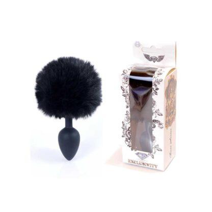 Plug Jewellery Silicon PLUG Bunny Tail Black 136E747 1