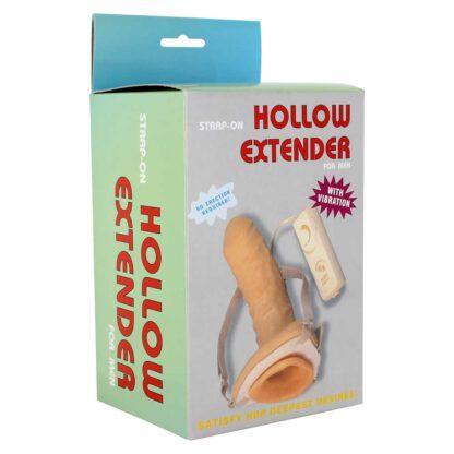 Proteza STRAP ON VIBRATING HOLLOW EXTENDER 100E696 3