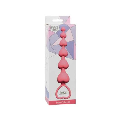 Anal Beads Heart Inch s Beads Pink 303E493 1