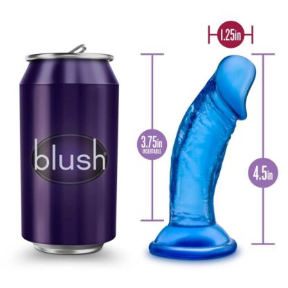 B YOURS SWEET N SMALL 4INCH DILDO BLUE 132E135 5