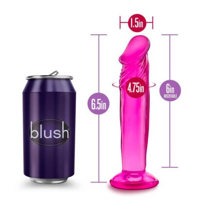 B YOURS SWEET N SMALL 6INCH DILDO PINK 115E959 6