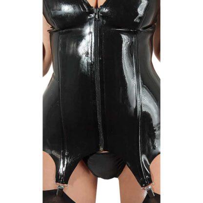 BIELIZNA BDSM LATEX BASQUE BLACK M 137E180 11
