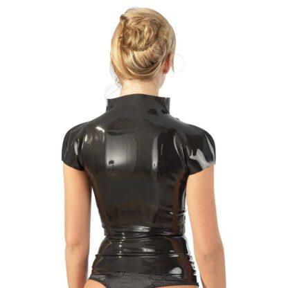 BIELIZNA BDSM LATEX SHIRT ZIP BLACK L 129E966 12