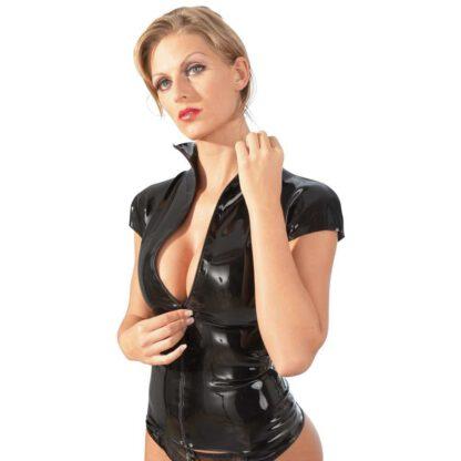 BIELIZNA BDSM LATEX SHIRT ZIP BLACK L 129E966 2
