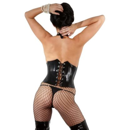 BIELIZNA BDSM LATEX WAIST CINCHER BLACK 2XL 162E850 10