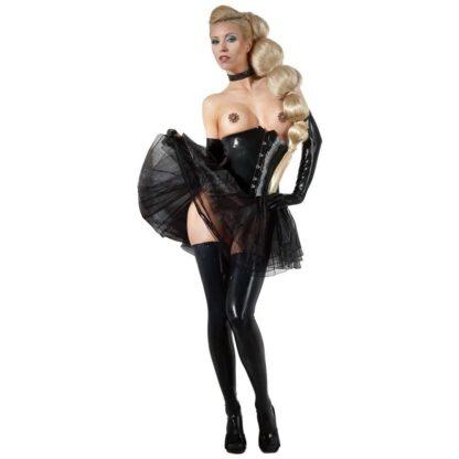 BIELIZNA BDSM LATEX WAIST CINCHER BLACK 2XL 162E850 11
