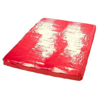 BIELIZNA BDSM VINYL BED SHEET RED 200X230CM 129E871 5
