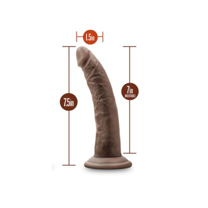 DILDO DR SKIN 7 COCK SUCTION CUP CHOCOLATE 120E869 6