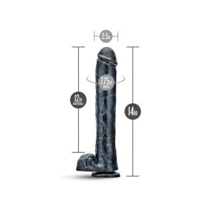 DILDO JET DARK STEEL CARBON METALLIC BLACK 115E780 6