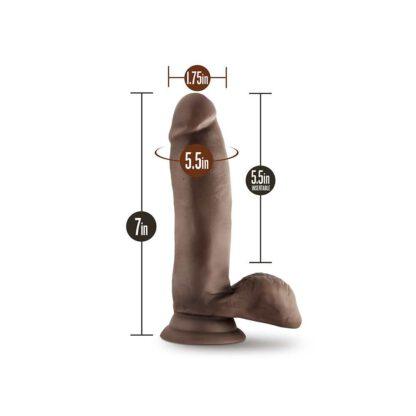 DILDO XX ELYSIUM CHOCOLATE 132E136 6