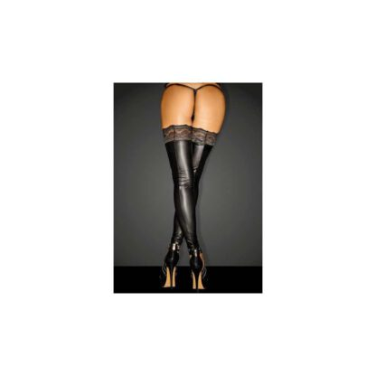 F135 Powerwetlook stockings with siliconed lace S 139E152 1