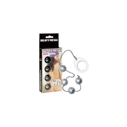 Koraliki analne metalowe kulki Heavy Metal Anal Beads 35 cm 130E580 1