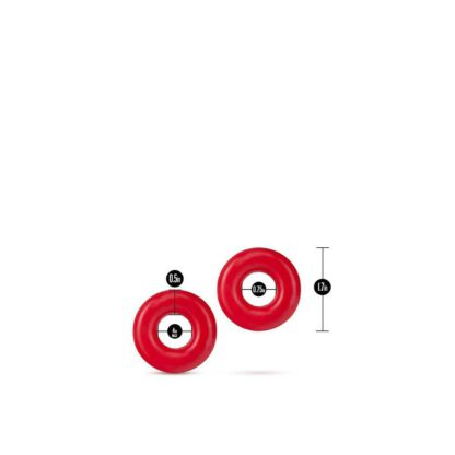 PIERSCIEN STAY HARD DONUT RINGS OVERSIZED RED 139E416 3