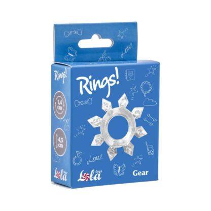 Pierscien Cockring Rings Gear white 138E133 1