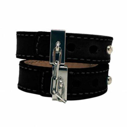 Skorzane kajdanki Crave Leather Cuffs 124E217 1