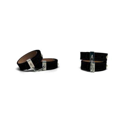 Skorzane kajdanki Crave Leather Cuffs 124E217 3
