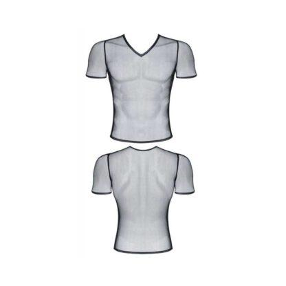 meski t shirt z elastycznej siatki w serek XL 137E583 3